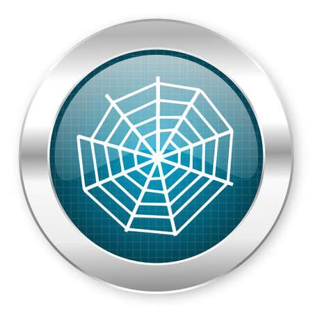 spider web icon Stock Photo - 21069247