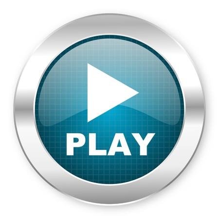 play icon Stock Photo - 21081183