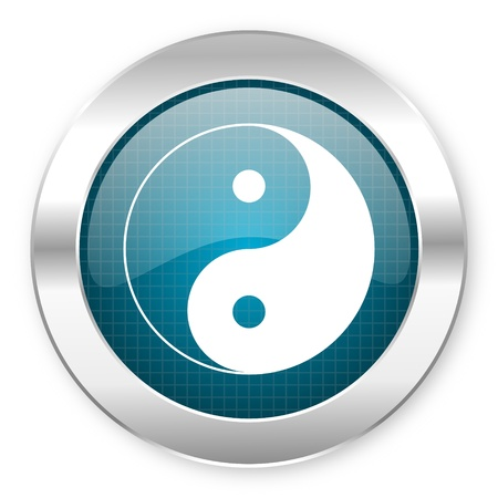 ying yang icon  photo