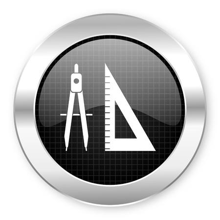 calipers: e-learning icon  Stock Photo