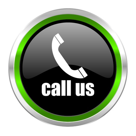 call us: call us icon  Stock Photo