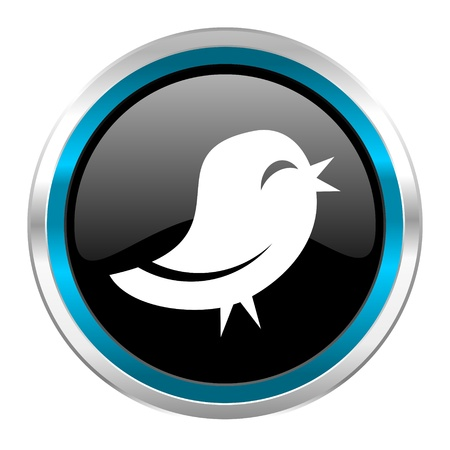 pushbuttons: twitter icon  Stock Photo