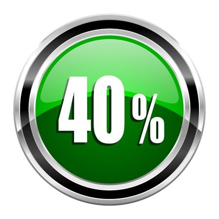 40: 40 percent icon  Stock Photo