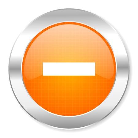 minus icon Stock Photo - 21442871