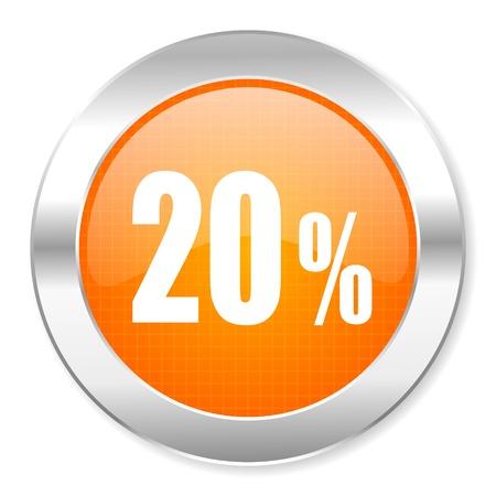 10 key: 20 percent icon