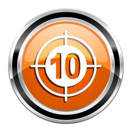 target icon Stock Photo - 21860846