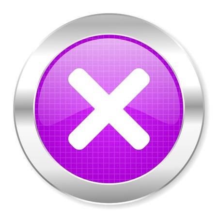 cancel icon Stock Photo - 21862272