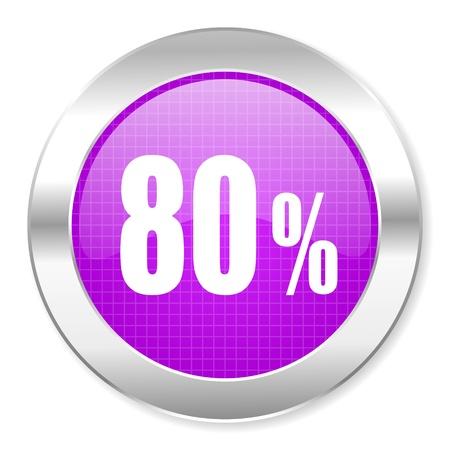 70 80: 80 percent icon