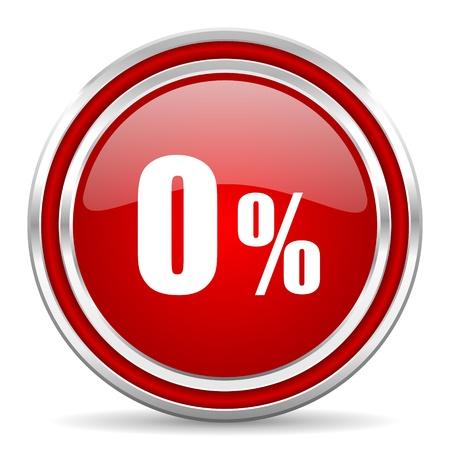 smarthone: 0 percent icon  Stock Photo