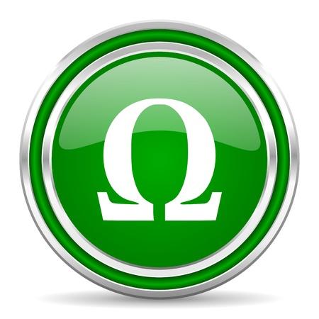 smarthone: omega icon  Stock Photo