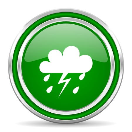 rain icon  Stock Photo