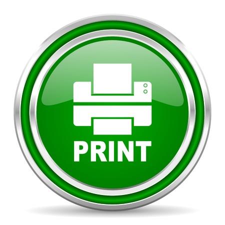 smarthone: print icon  Stock Photo