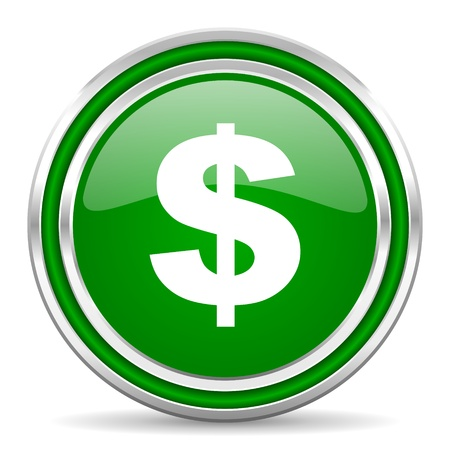 dollar icon: us dollar icon  Stock Photo