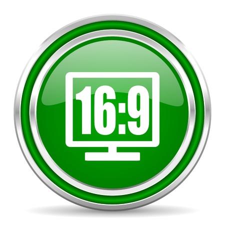 16 9 display icon  photo