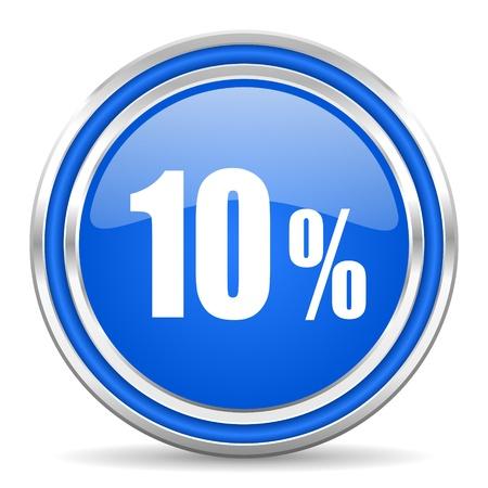 10 key: 10 percent icon