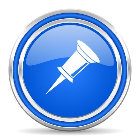 pin icon  Stock Photo