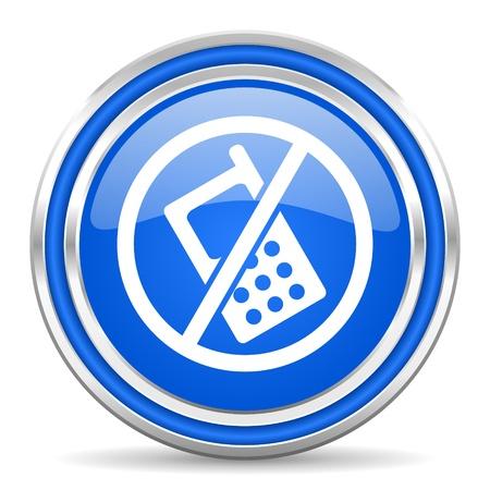 no phones icon Stock Photo - 21978681