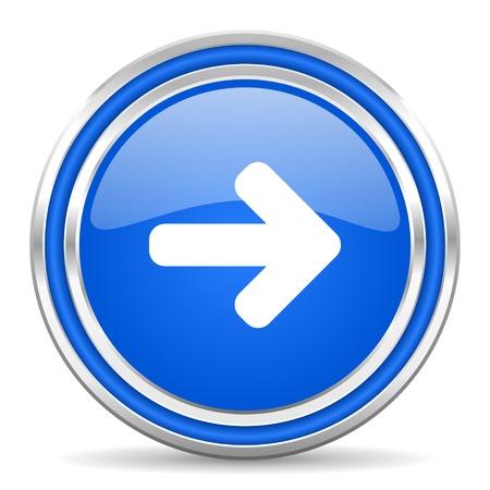 smarthone: arrow right icon  Stock Photo