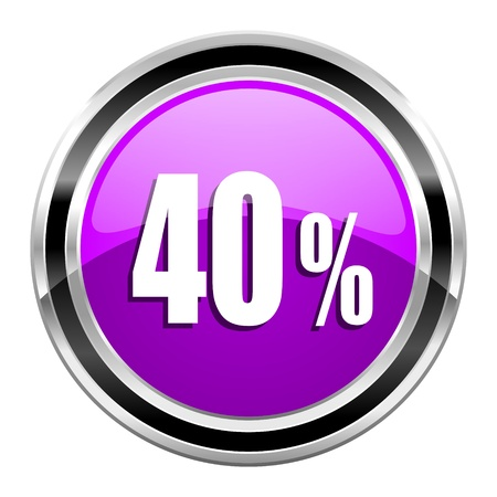 40: 40 percent icon  Stock Photo