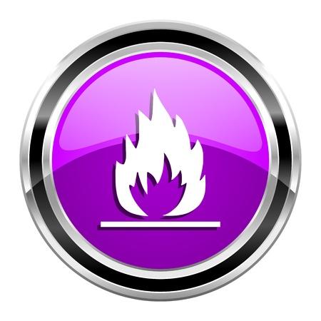 flames icon Stock Photo - 22084616
