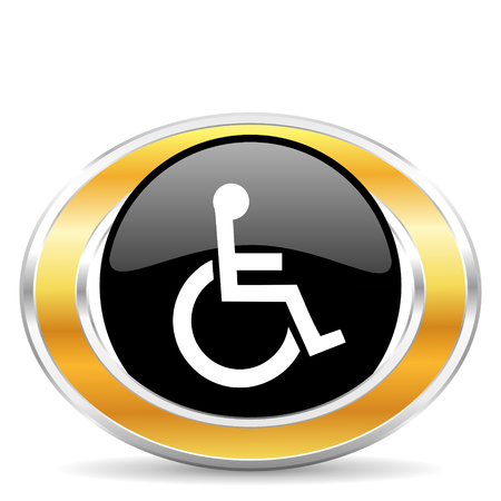 wheelchair icon Stock Photo - 22320686
