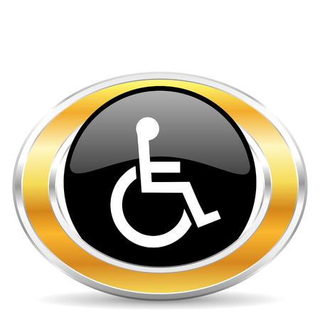 wheelchair icon Stock Photo - 22320686