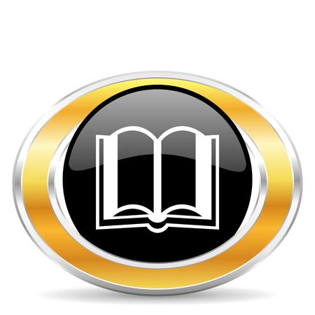 guestbook: book icon Stock Photo