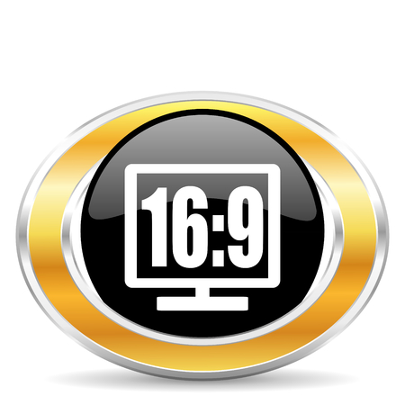 16 9 display icon photo