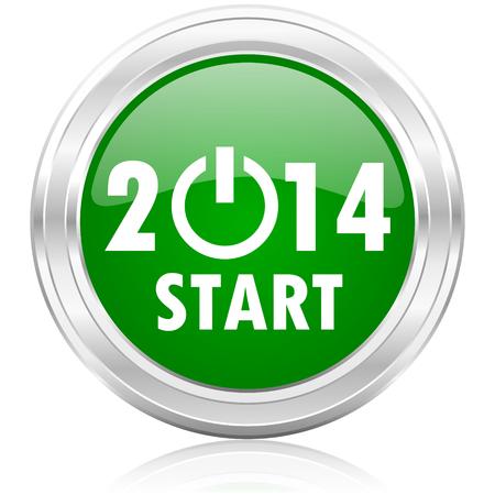 jaar 2014 icoon Stockfoto