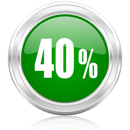40 percent icon  photo