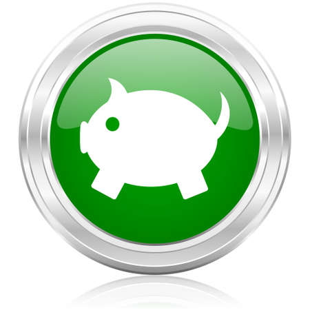 piggy bank icon Stock Photo - 22532151