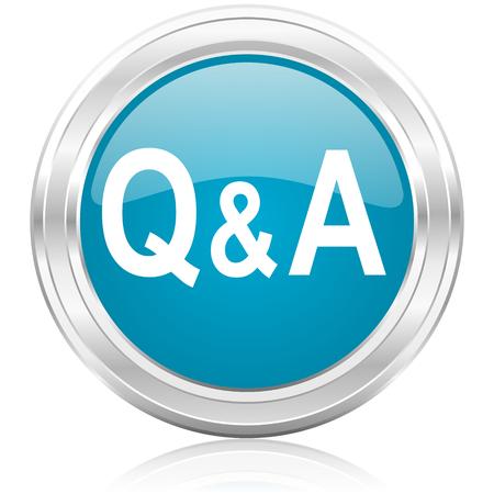control de calidad: icono de preguntas y respuestas Foto de archivo