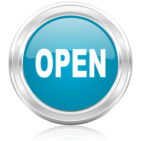 smarthone: open icon  Stock Photo