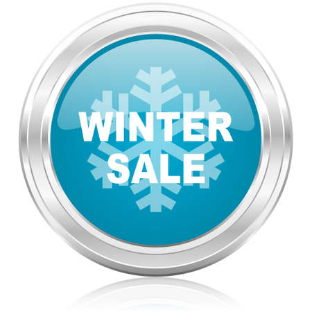 winter sale icon  photo