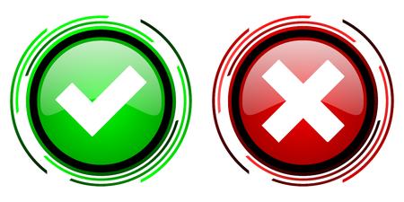 accept: accept cancel icon Stock Photo