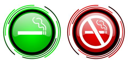 cigarette icon Stock Photo - 22650895