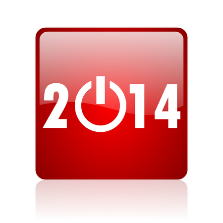 year 2014 icon Stock Photo - 22650898