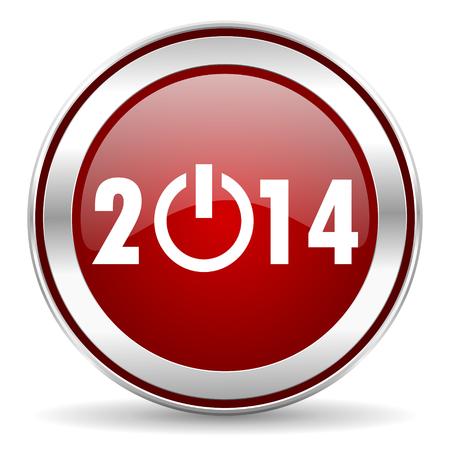 year 2014 icon Stock Photo - 22901804