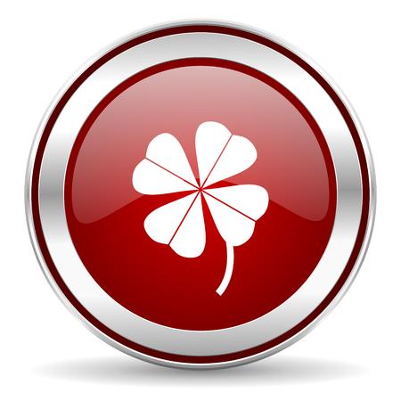 fourleaf: four-leaf clover icon  Stock Photo