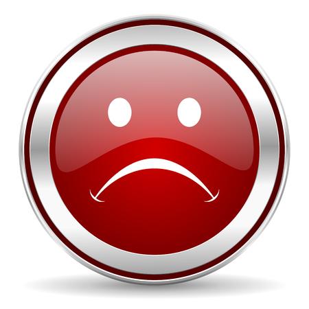 sad face: cry icon  Stock Photo
