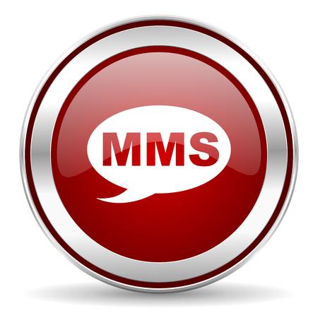 mms icon: mms icon  Stock Photo