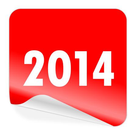 year 2014 icon Stock Photo - 23084783
