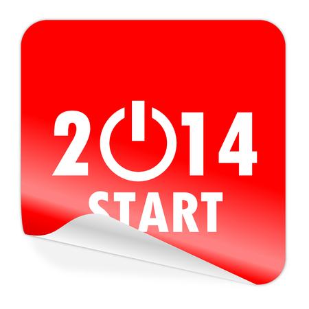 year 2014 icon Stock Photo - 23084784