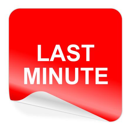 minute: last minute icon  Stock Photo