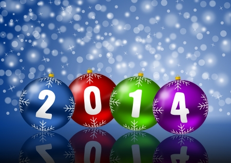 2014 new year greeting card photo