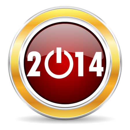 year 2014 icon Stock Photo - 23222553