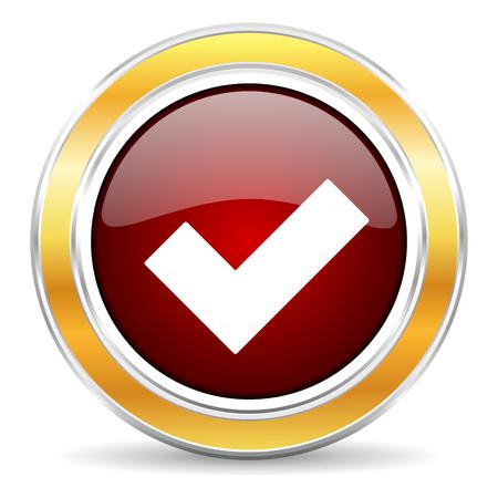 accept icon  Stock Photo
