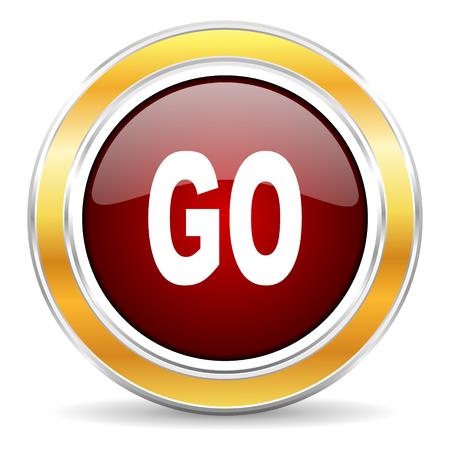 smarthone: go icon  Stock Photo