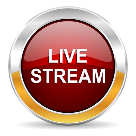 live stream: live stream icon  Stock Photo