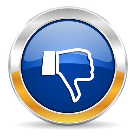 dislike: hekel icoon Stockfoto